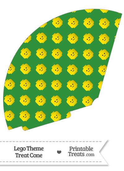 Green Lego Theme Treat Cone from PrintableTreats.com