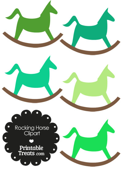 Green Rocking Horse Clipart from PrintableTreats.com
