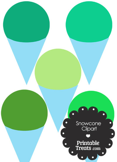 Green Snow Cone Clipart from PrintableTreats.com