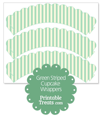 green striped cupcake wrappers