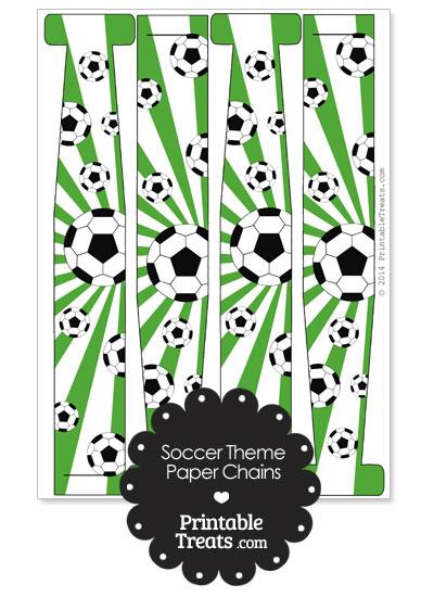 Green Sunburst Soccer Paper Chains from PrintableTreats.com
