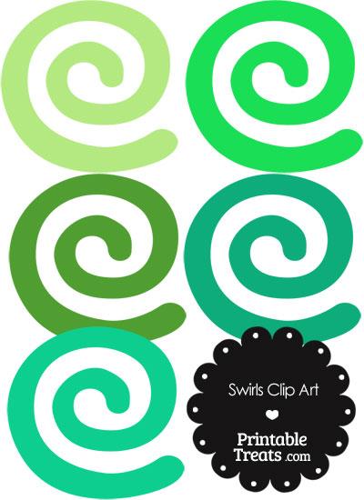 Green Swirls Clipart from PrintableTreats.com