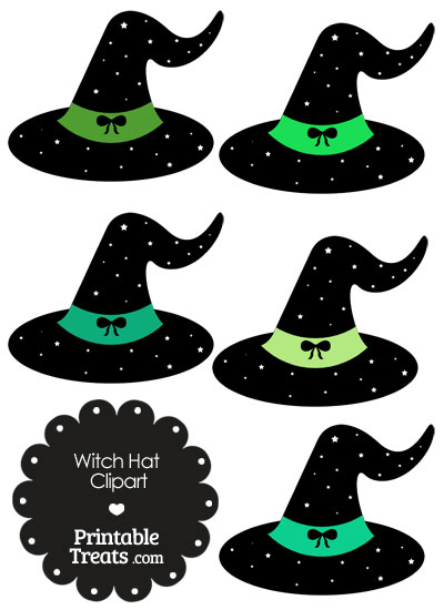 Green Witch Hat Clipart from PrintableTreats.com