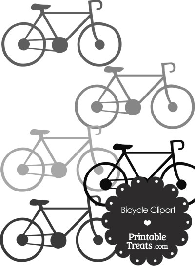 Grey Bicycle Clipart from PrintableTreats.com