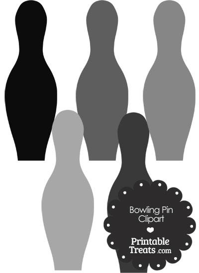Grey Bowling Pin Clipart from PrintableTreats.com