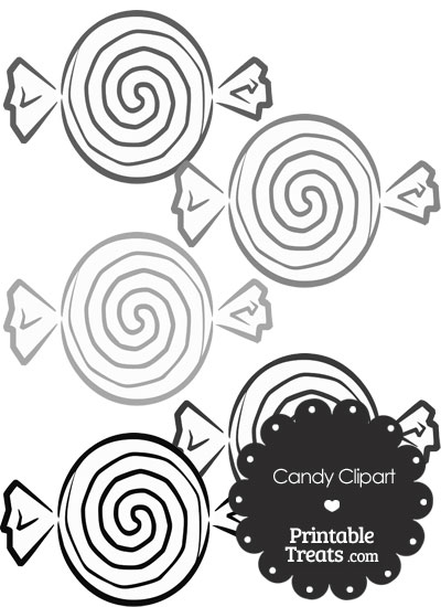 Grey Candy Clipart from PrintableTreats.com
