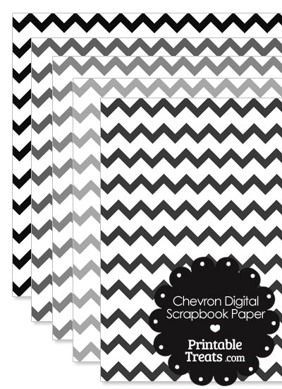 Grey Chevron Digital Scrapbook Paper from PrintableTreats.com