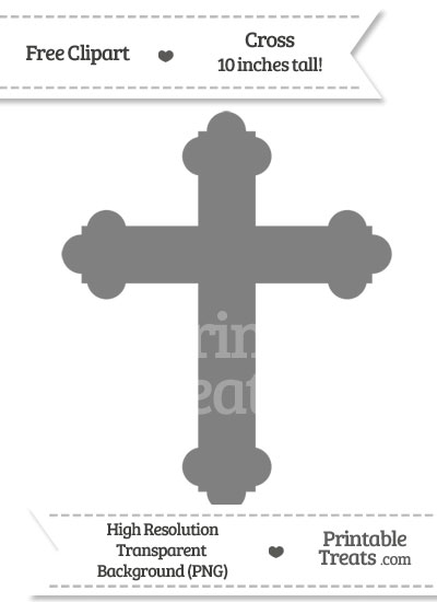 Grey Cross Clipart from PrintableTreats.com