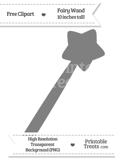 Grey Fairy Wand Clipart from PrintableTreats.com