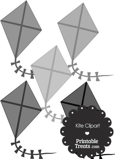 Grey Kite Clipart from PrintableTreats.com