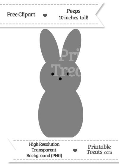 Grey Peeps Clipart from PrintableTreats.com