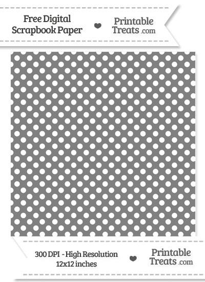 Grey Polka Dot Digital Paper from PrintableTreats.com