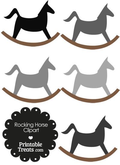 Grey Rocking Horse Clipart from PrintableTreats.com