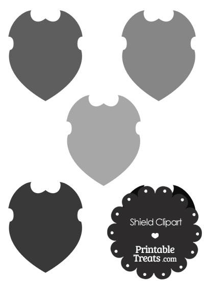 Grey Shield Clipart from PrintableTreats.com