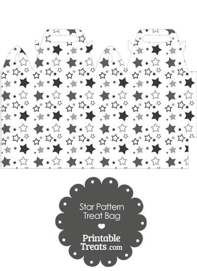 Grey Star Pattern Treat Bag from PrintableTreats.com