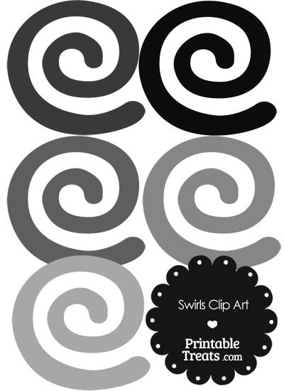 Grey Swirls Clipart from PrintableTreats.com