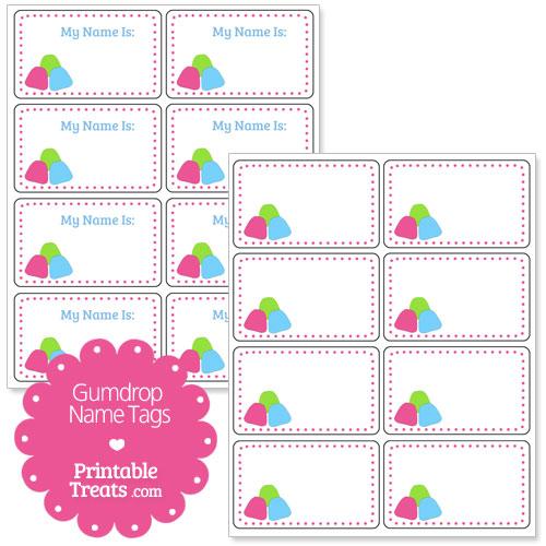 gumdrop name tags
