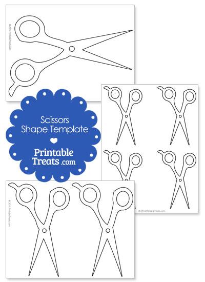 Printable Hair Cutting Scissors Template from PrintableTreats.com