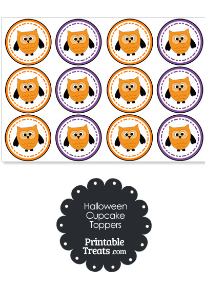 Halloween Owl Cupcake Toppers from PrintableTreats.com