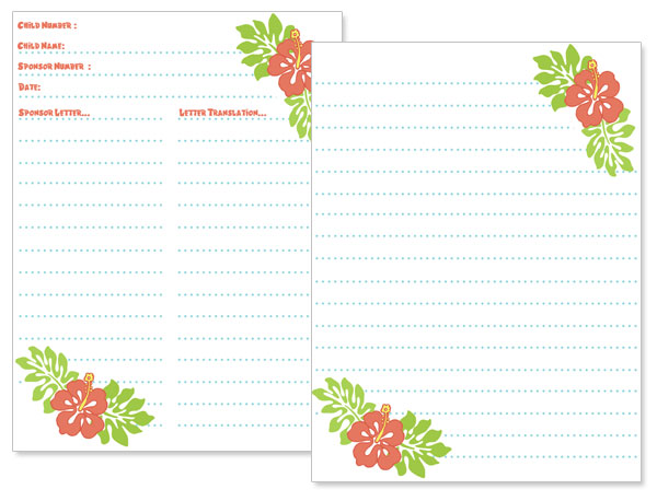 hawaiian themed stationery