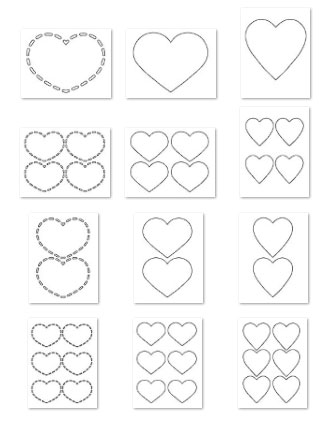 heart shapes template
