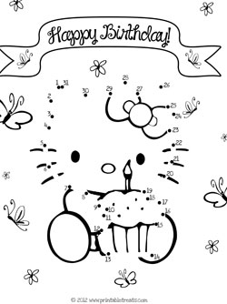 hello kitty birthday connect the dots