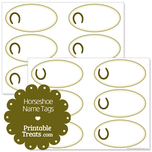 horseshoe name tags
