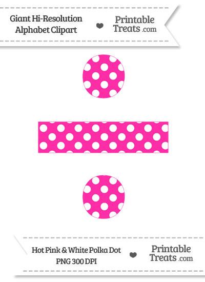 Hot Pink Polka Dot Division Symbol Clipart from PrintableTreats.com