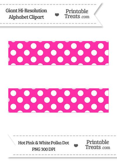 Hot Pink Polka Dot Equal Sign Clipart from PrintableTreats.com