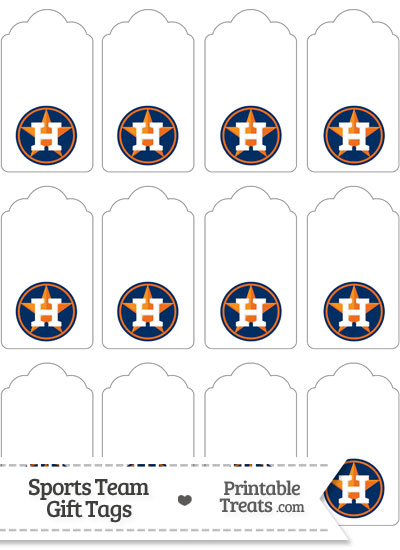 Houston Astros Gift Tags from PrintableTreats.com