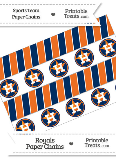 Houston Astros Paper Chains from PrintableTreats.com