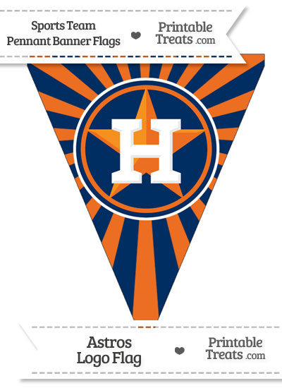 Houston Astros Pennant Banner Flag from PrintableTreats.com