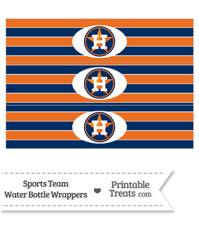 Houston Astros Water Bottle Wrappers from PrintableTreats.com