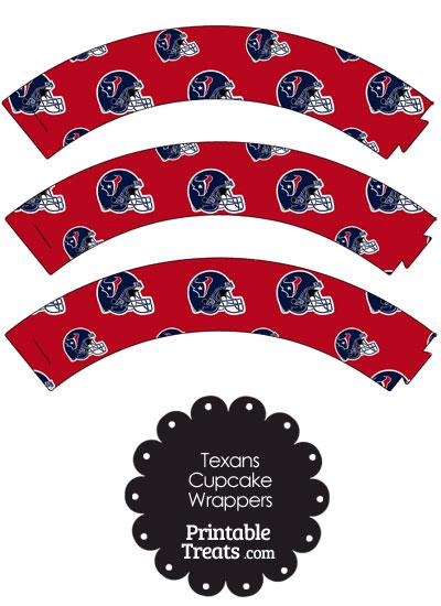 Houston Texans Football Helmet Cupcake Wrappers from PrintableTreats.com