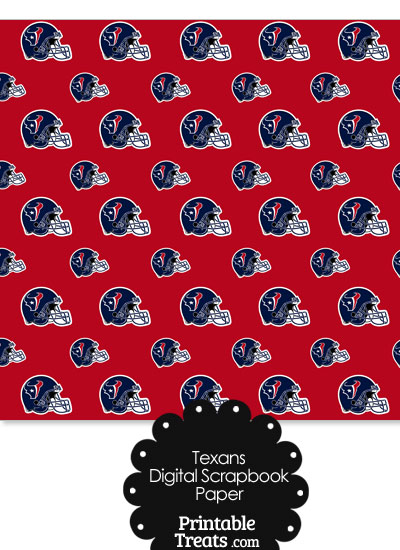 Houston Texans Football Helmet Digital Paper from PrintableTreats.com