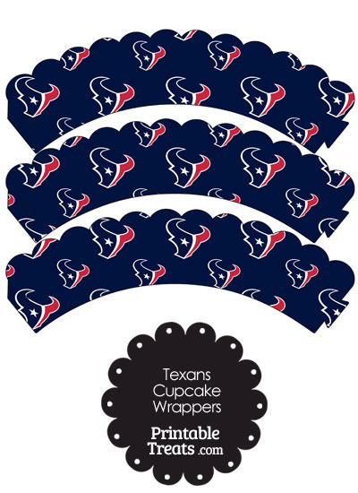 Houston Texans Logo Scalloped Cupcake Wrappers from PrintableTreats.com