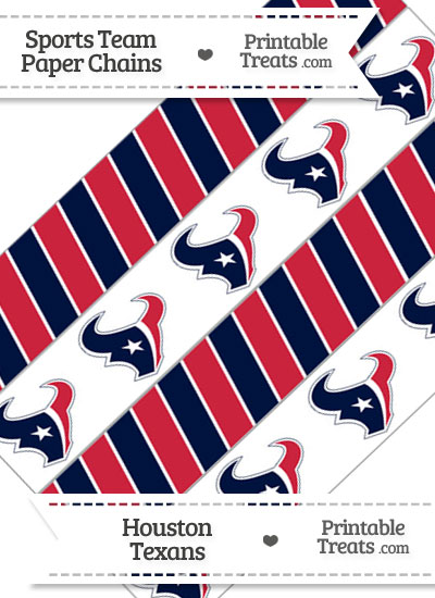 Houston Texans Paper Chains from PrintableTreats.com
