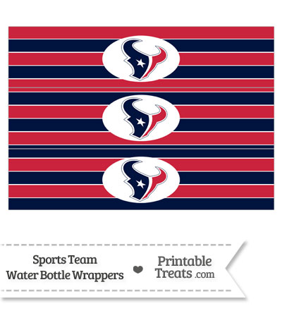 Houston Texans Water Bottle Wrappers from PrintableTreats.com