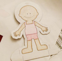 How to Make Paper Dolls from PrintableTreats.com