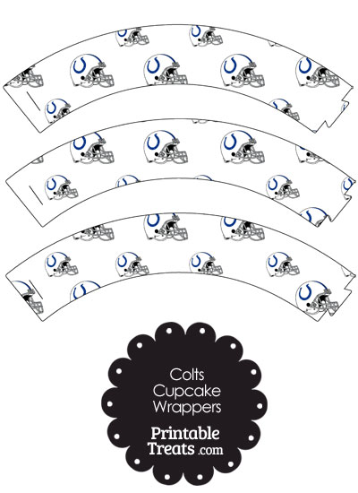 Indianapolis Colts Football Helmet Cupcake Wrappers from PrintableTreats.com