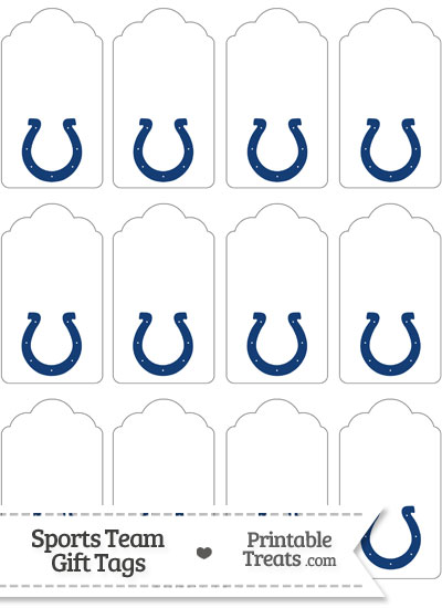 Indianapolis Colts Gift Tags from PrintableTreats.com