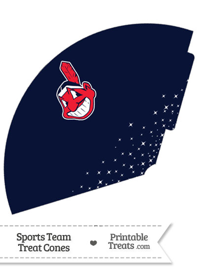 Indians Treat Cone Printable from PrintableTreats.com