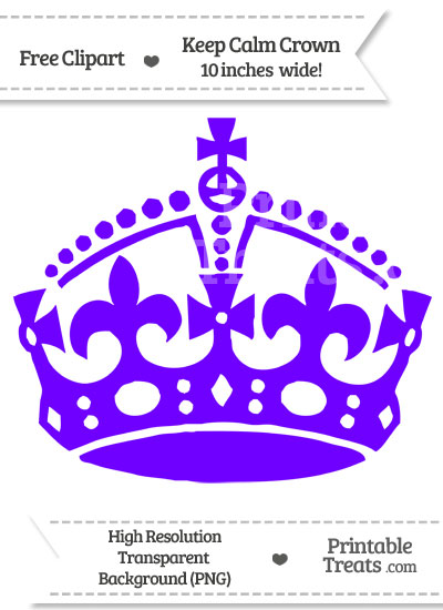 Indigo Keep Calm Crown Clipart from PrintableTreats.com