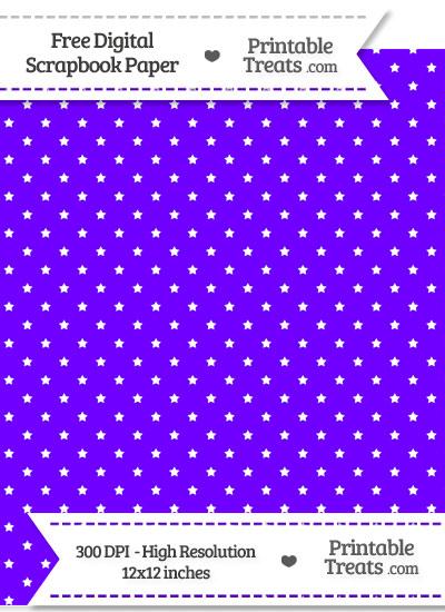 Indigo Mini Stars Digital Paper from PrintableTreats.com