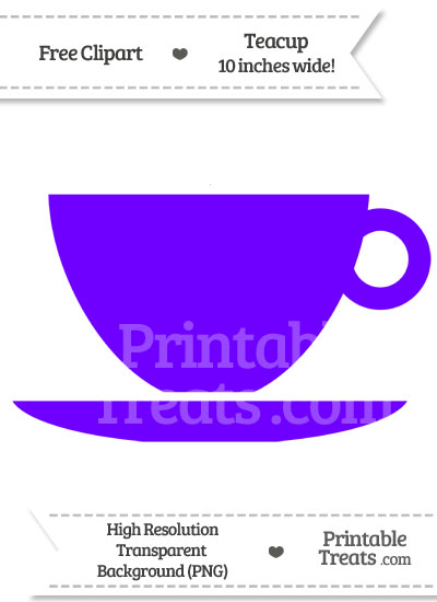 Indigo Teacup Clipart from PrintableTreats.com