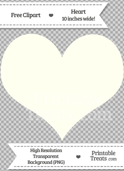 Ivory Heart Clipart from PrintableTreats.com