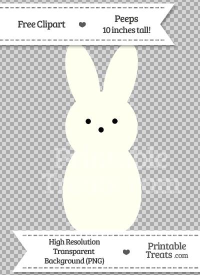 Ivory Peeps Clipart from PrintableTreats.com