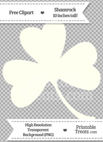 Ivory Shamrock Clipart from PrintableTreats.com