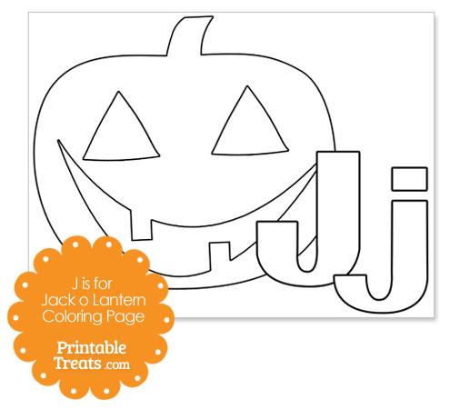 j is for jack o lantern printable