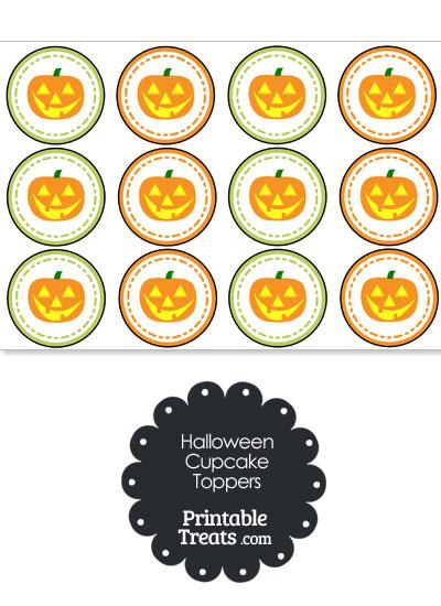 Jack o Lantern Cupcake Toppers from PrintableTreats.com